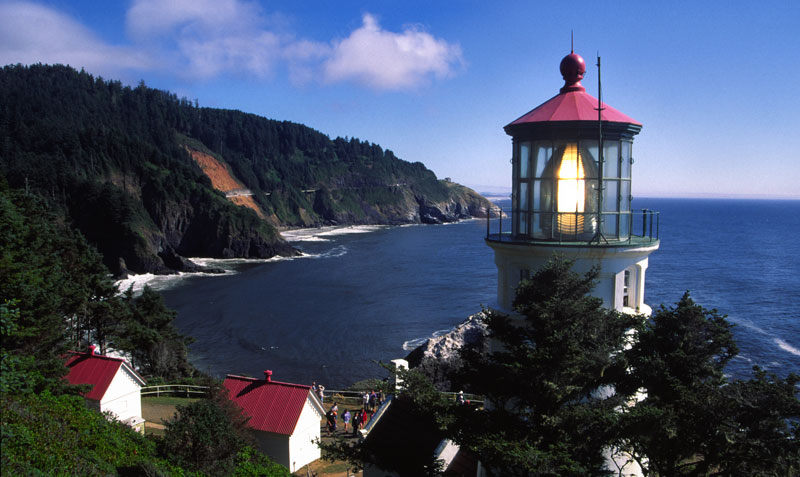 Haceta Head Lighthouse on the beautiful Oregon Coast, north of Florence.<br> Photo by: Jeff Jimmick